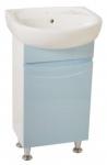 Мебель для ванной. Модель Валенсия голубая с умывальником Solo 40 , Solo 50 (Kolo) . Серия Валенсия